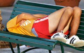 fáradt sportoló