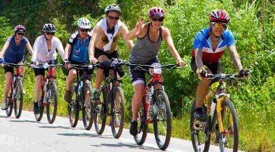 kerékpárosok