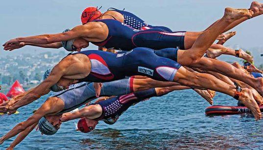 Triatlon nyíltvizi úszás