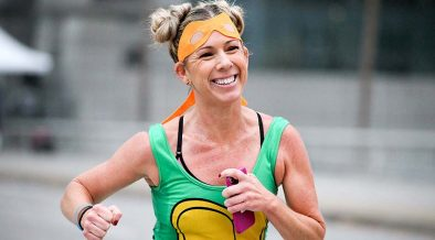 jókedvű, boldog futó - endorfin